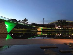 Adelaide Oval and footbridge